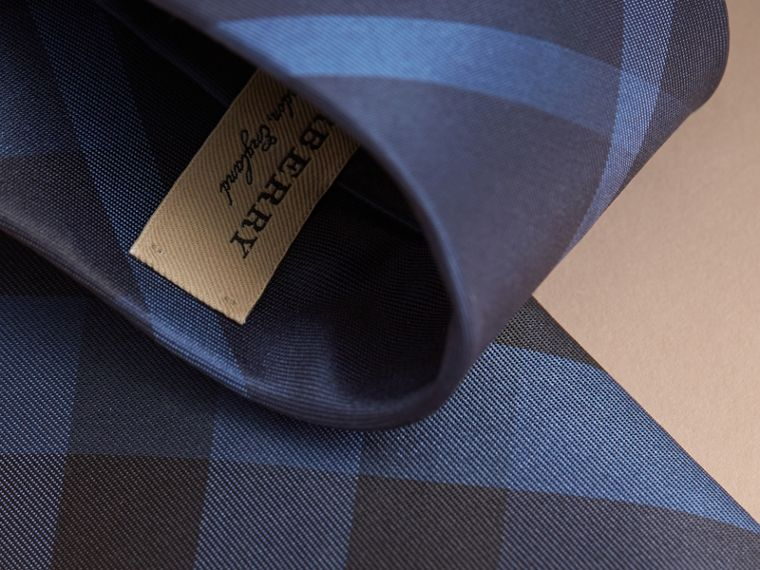 Modern Cut Check Silk Tie in Navy - Men | Burberry Australia - cell image 1