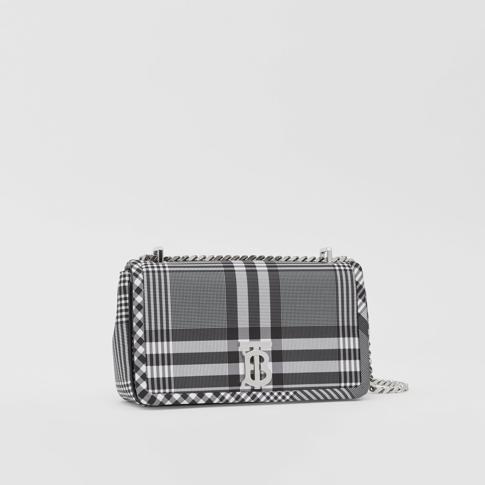 Small Check Nylon Lola Bag in Black/white - Women | Burberry Australia - gallery image 6