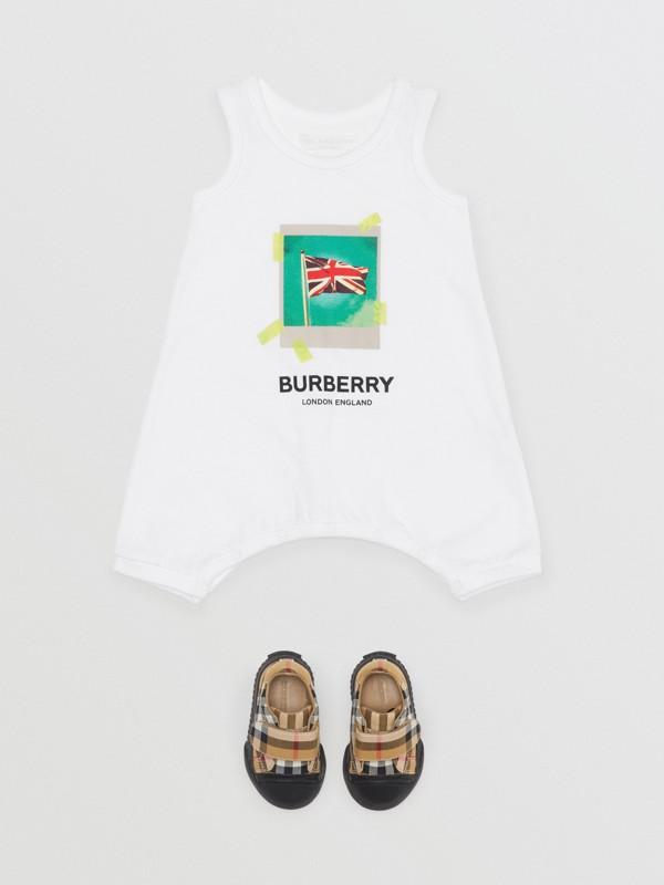 Polaroid Print Cotton Bodysuit in White - Children | Burberry Canada - cell image 2