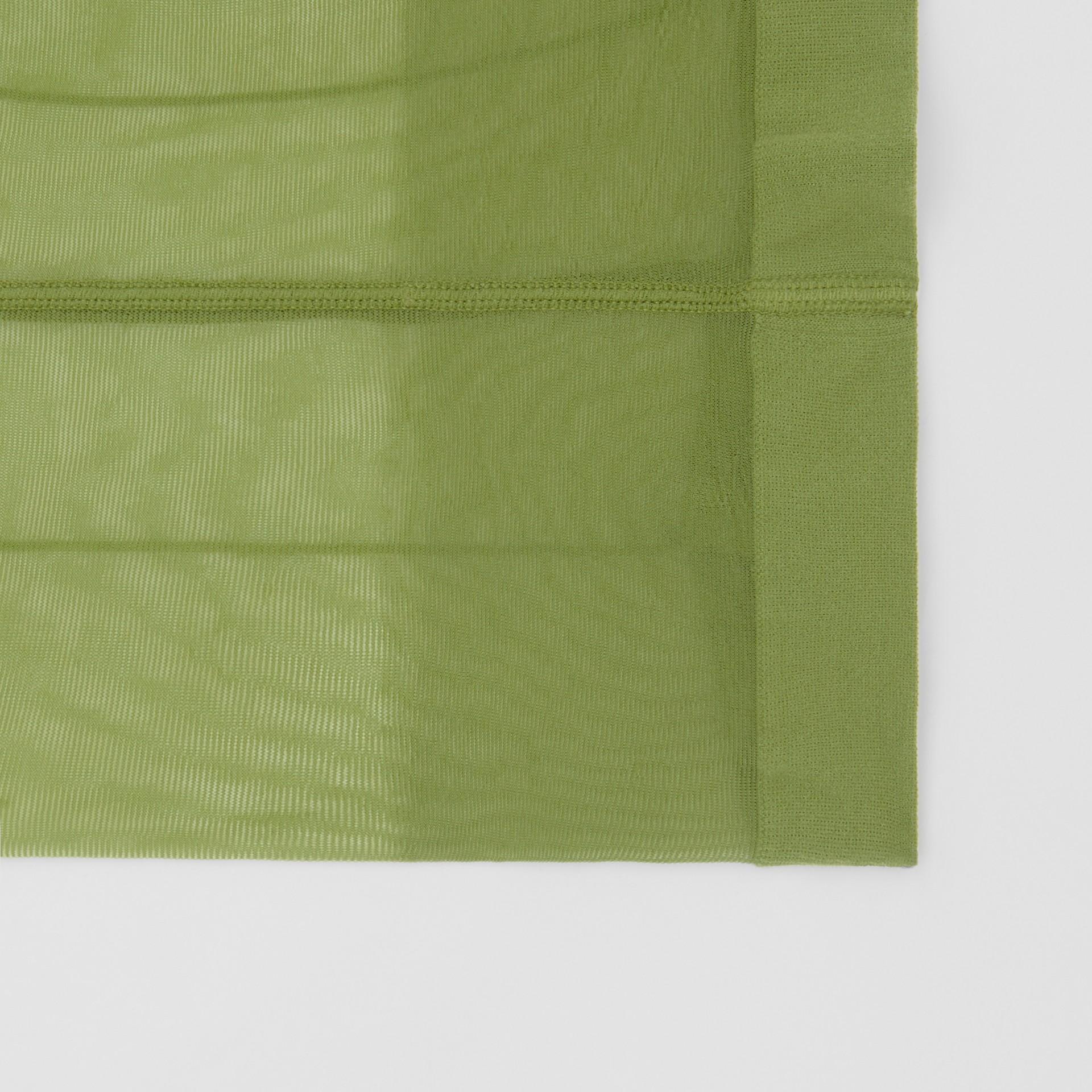 Monogram Motif Seamed Tights in Cedar Green - Women | Burberry Singapore - gallery image 1