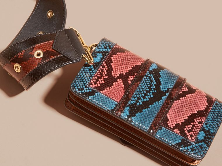 Multicolour The Patchwork in Snakeskin and Textured Suede - cell image 1