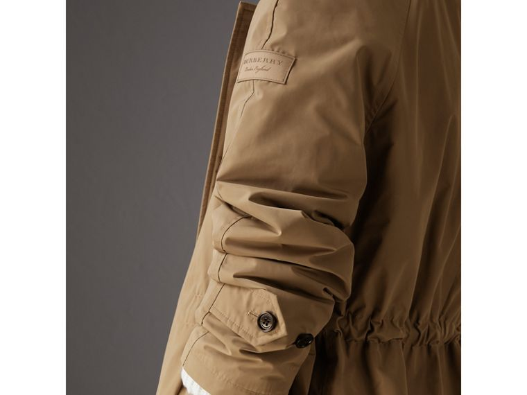 Detachable Hood Showerproof Car Coat in Sisal - Women | Burberry Singapore - cell image 1