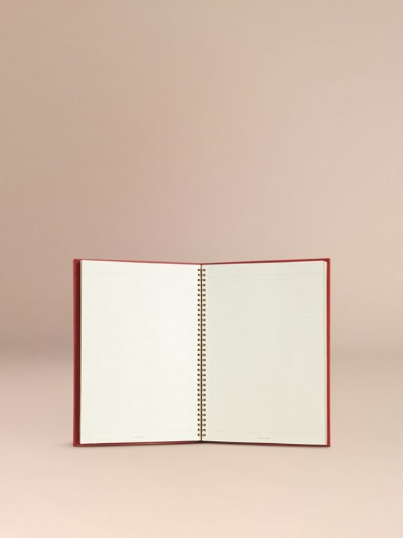 Grainy Leather A4 Notebook in Parade Red | Burberry Singapore - cell image 3