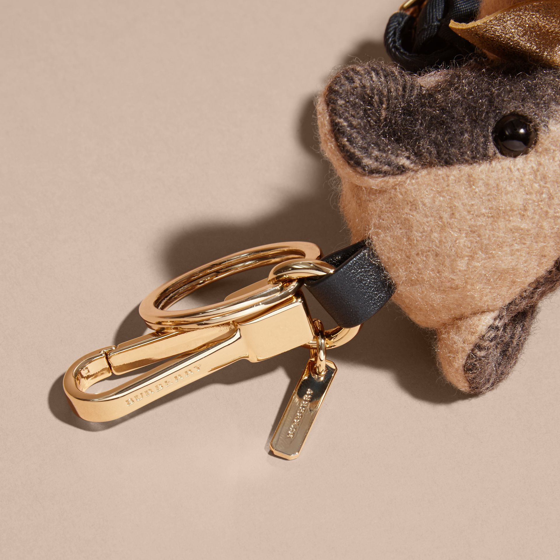 Thomas Bear Charm with Rucksack in Camel | Burberry - gallery image 4