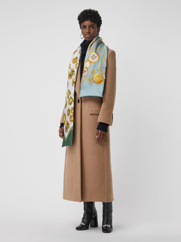 Archive Scarf Print Silk Puffer Scarf in Multicolour | Burberry United Kingdom - cell image 2