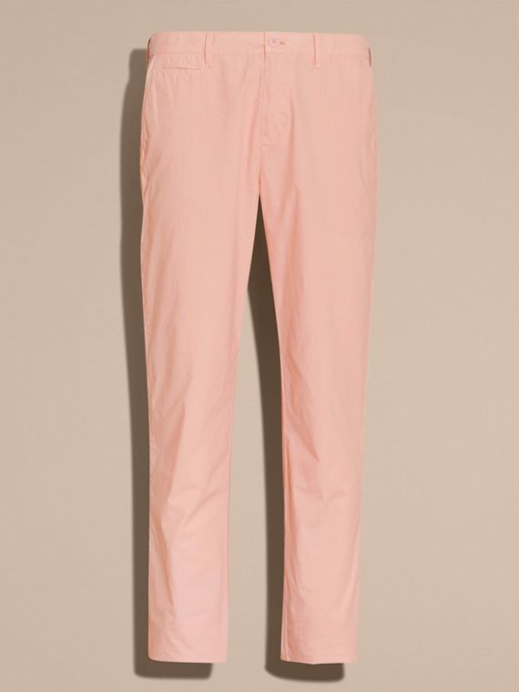 Slim Fit Cotton Poplin Chinos Apricot Pink - cell image 3