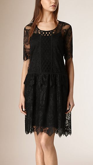 French Lace Cut-out Dress