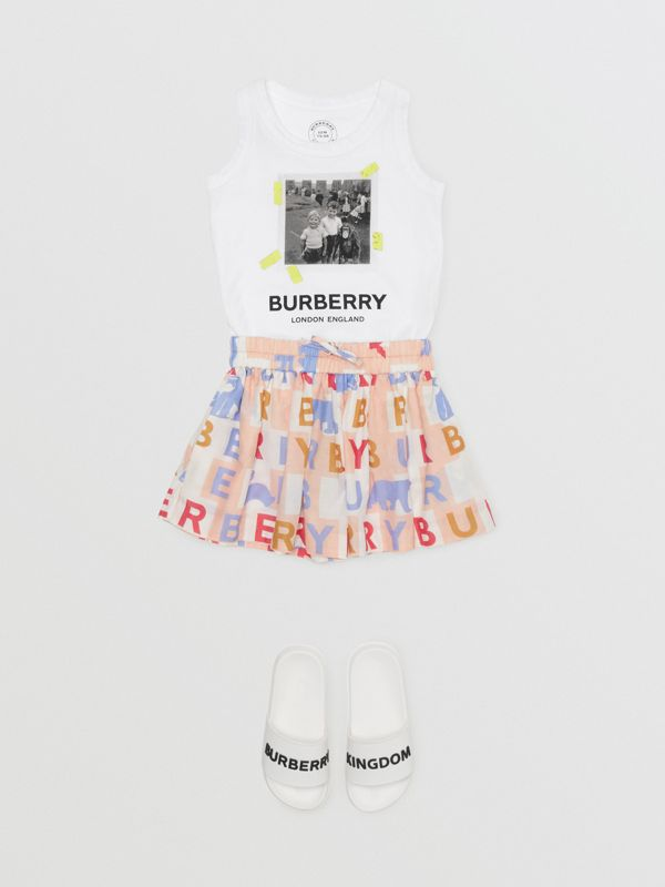 Vintage Photo Print Cotton Vest in White - Children | Burberry - cell image 2