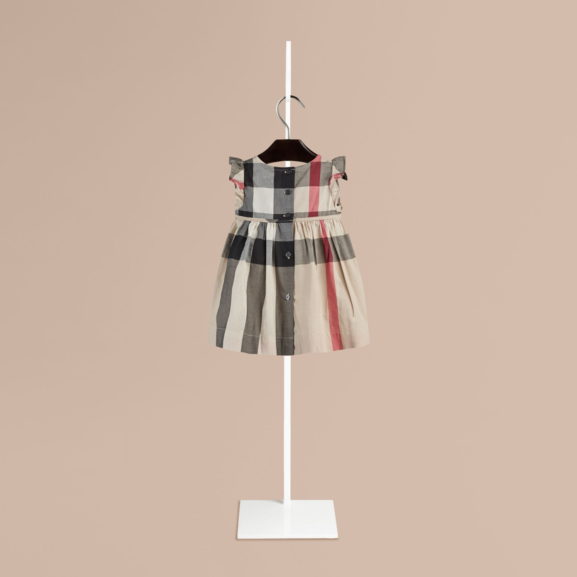 New classic check Flutter Sleeve Check Dress - gallery image 2
