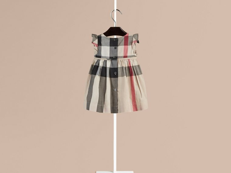 New classic check Flutter Sleeve Check Dress - cell image 1