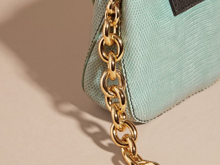 Dusty mint The Small Square Buckle Bag in Lizard - cell image 4