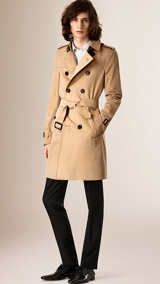 The Chelsea –Long Heritage Trench Coat Honey