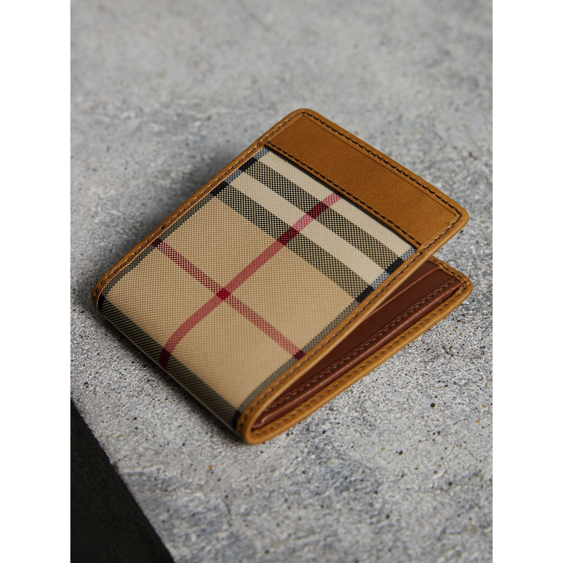 Horseferry Check Bifold Wallet in Tan - Men | Burberry Australia - gallery image 3
