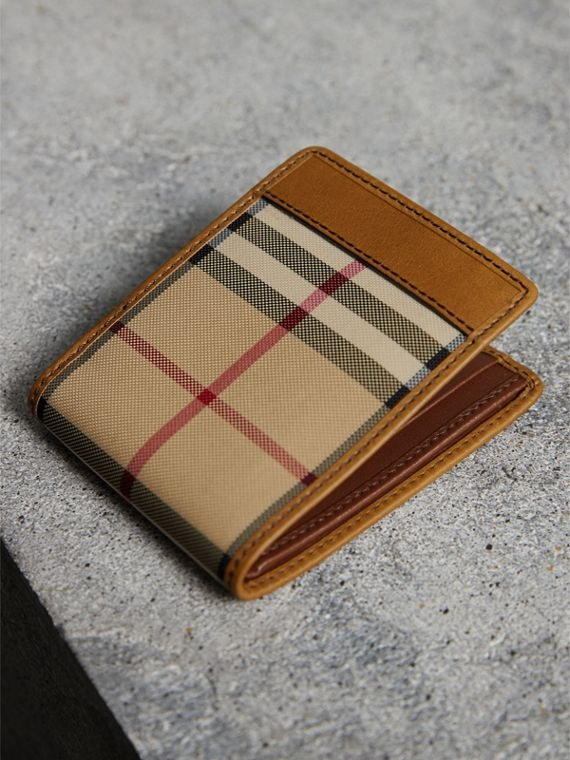 Cartera plegable en Horseferry Checks (Cuero) - Hombre | Burberry - cell image 2