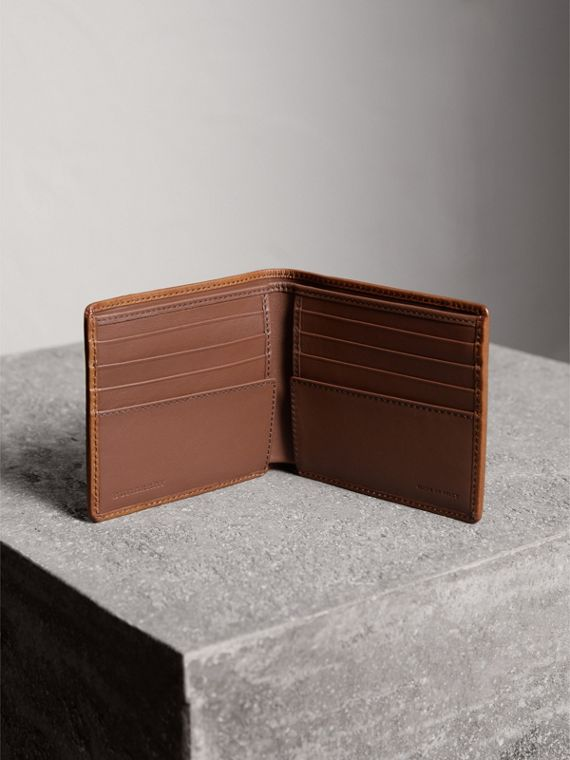 Horseferry Check International Bifold Wallet in Tan - Men | Burberry - cell image 3