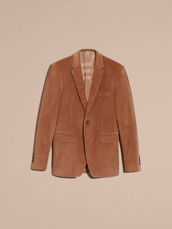 Camel Slim Fit Cotton Corduroy Jacket Camel - cell image 3