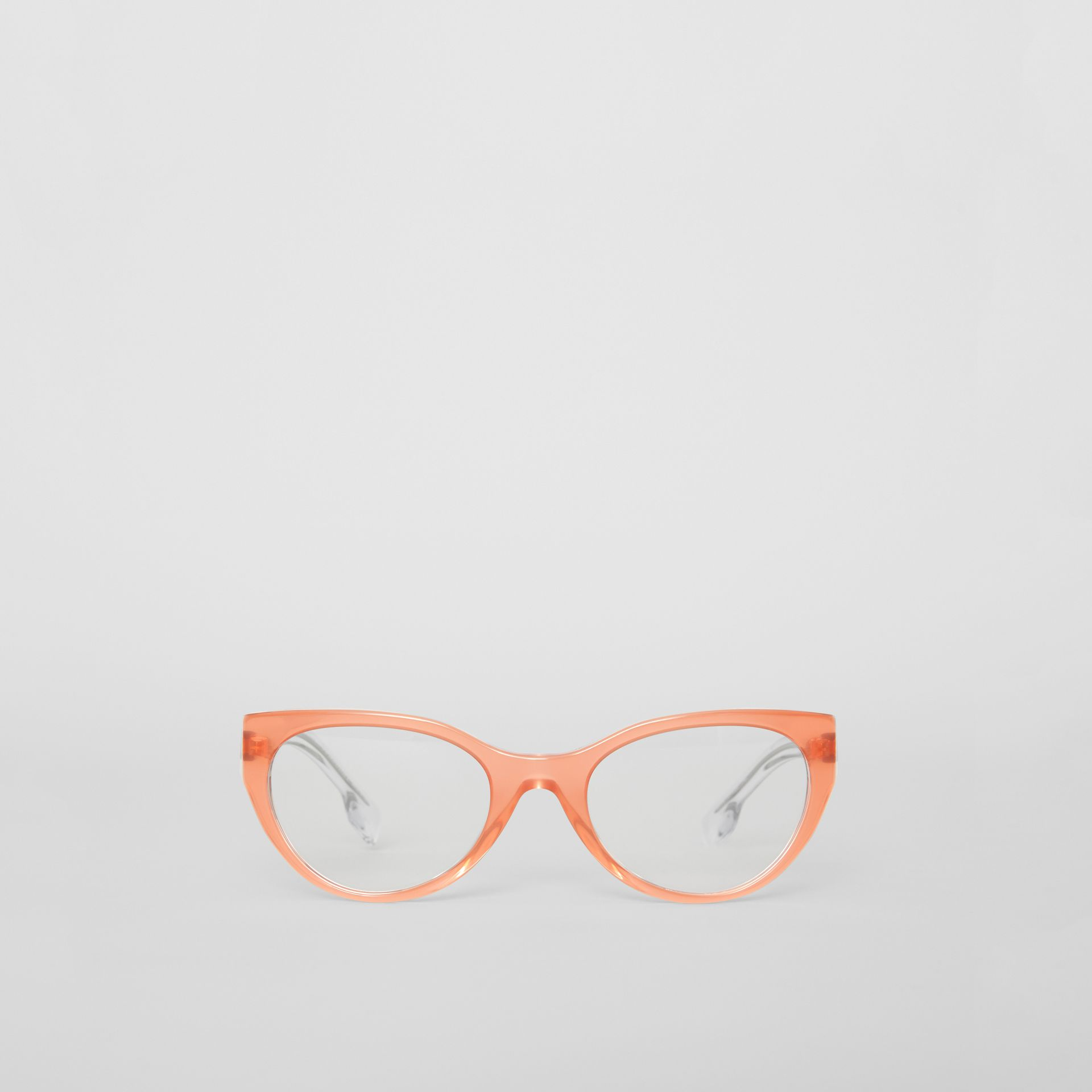 Cat-eye Optical Frames in Peach - Women | Burberry United Kingdom - gallery image 0