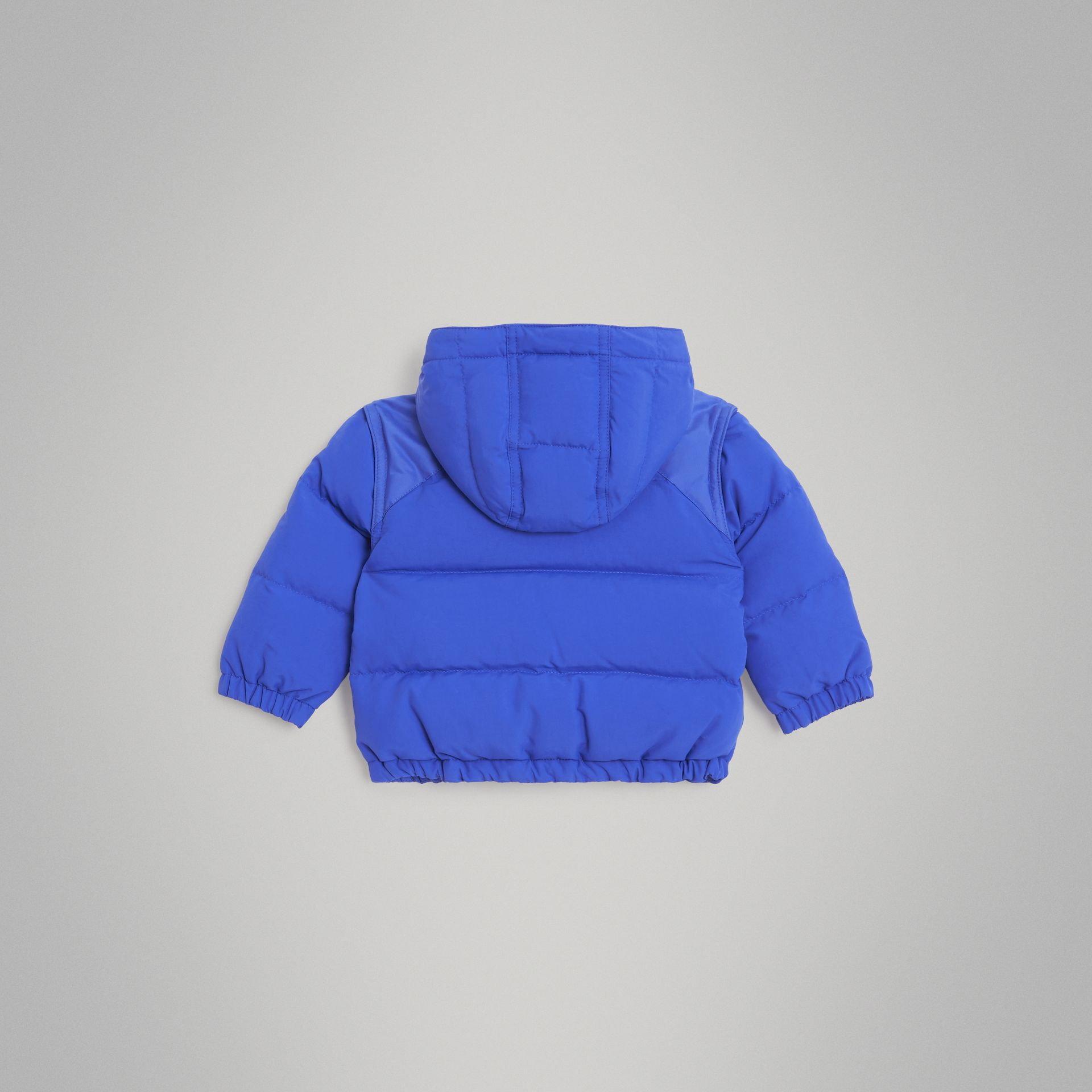 Down-filled Hooded Puffer Jacket in Royal Blue - Children | Burberry United Kingdom - gallery image 3
