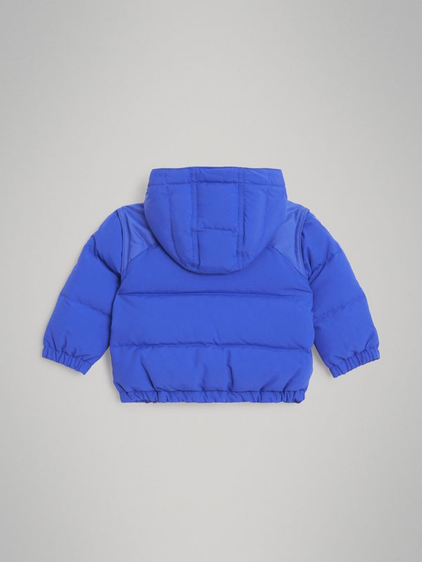 Down-filled Hooded Puffer Jacket in Royal Blue - Children | Burberry Singapore - cell image 3