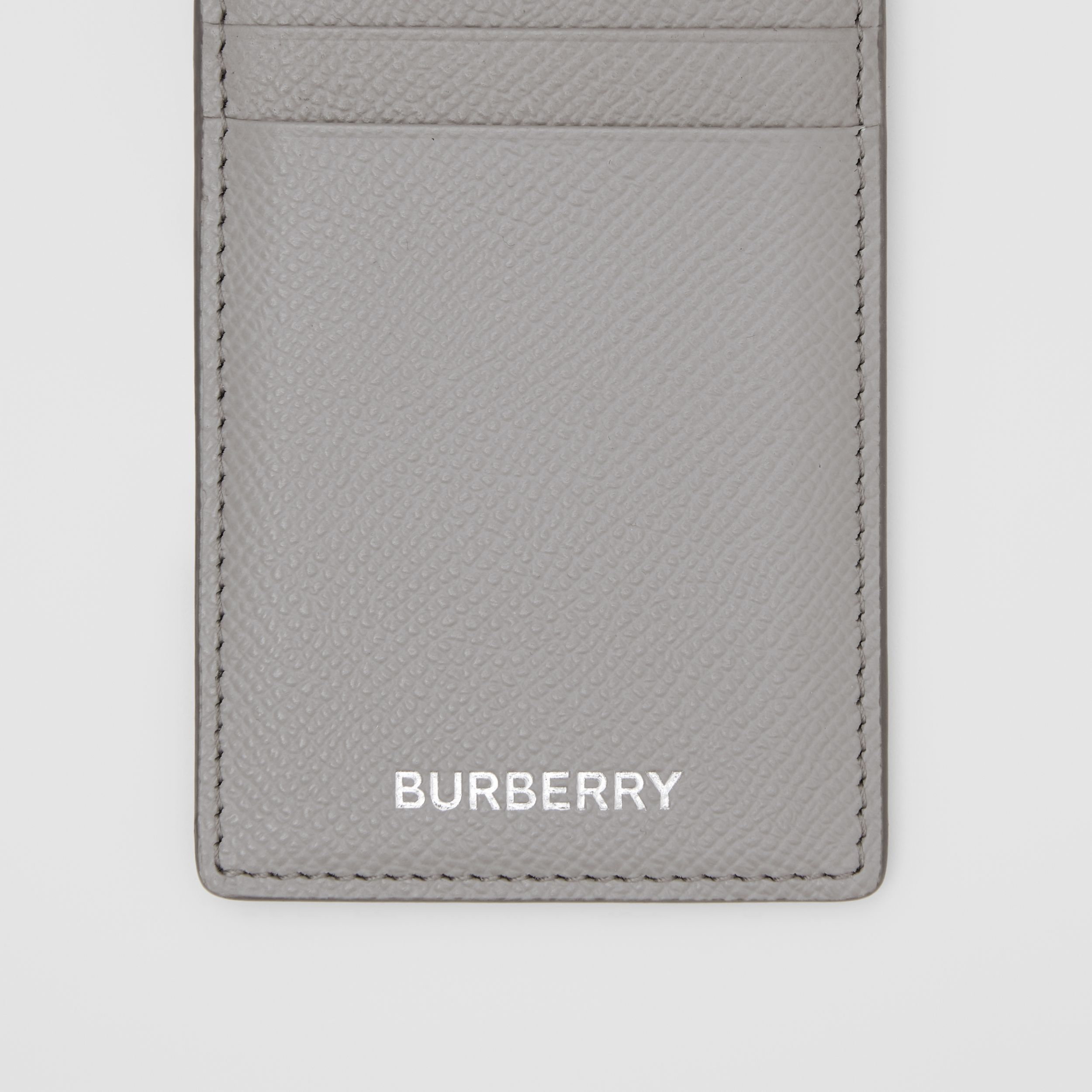 Grainy Leather Card Case in Cloud Grey - Men | Burberry - 2
