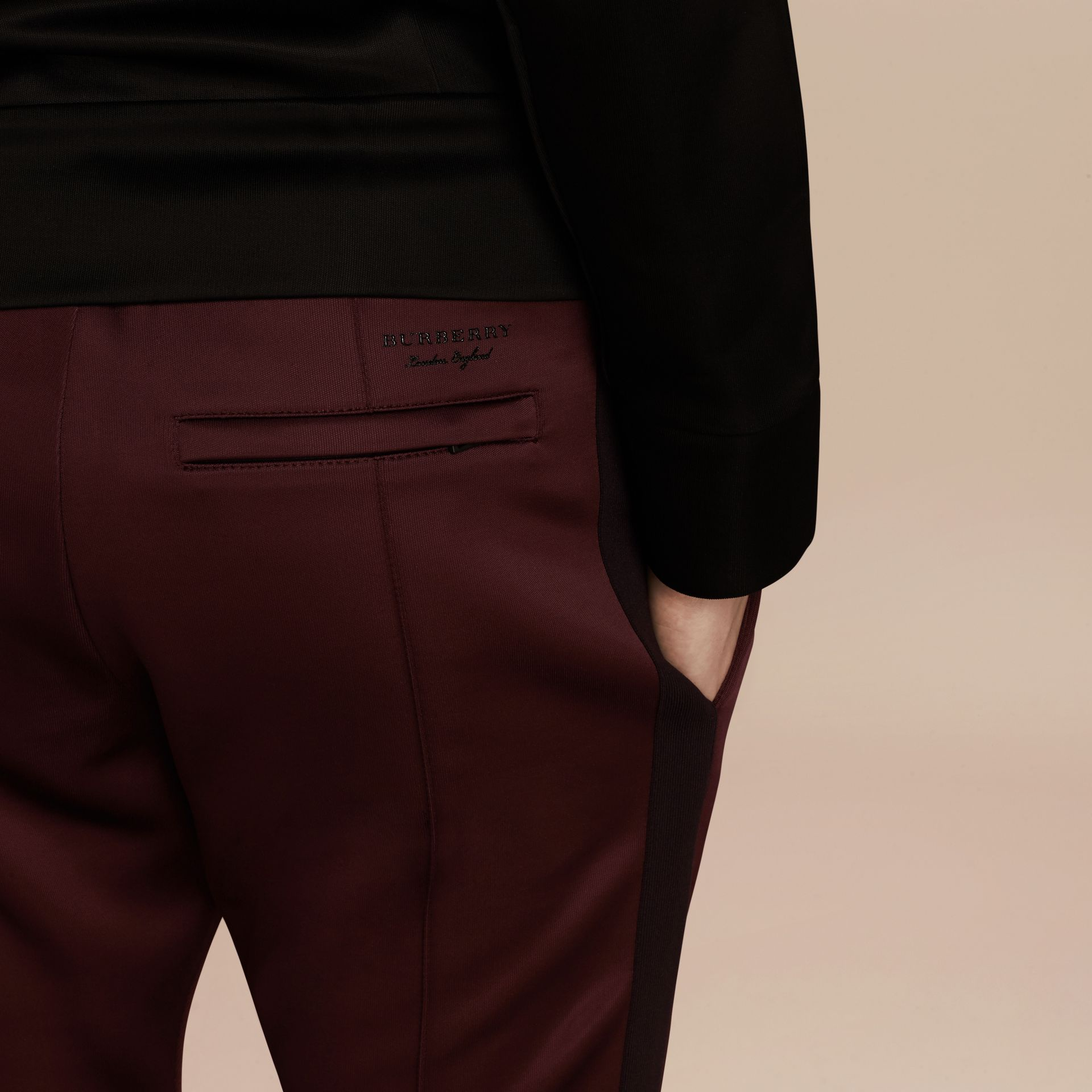 Maroon purple High-shine Track Pants Maroon Purple - gallery image 5