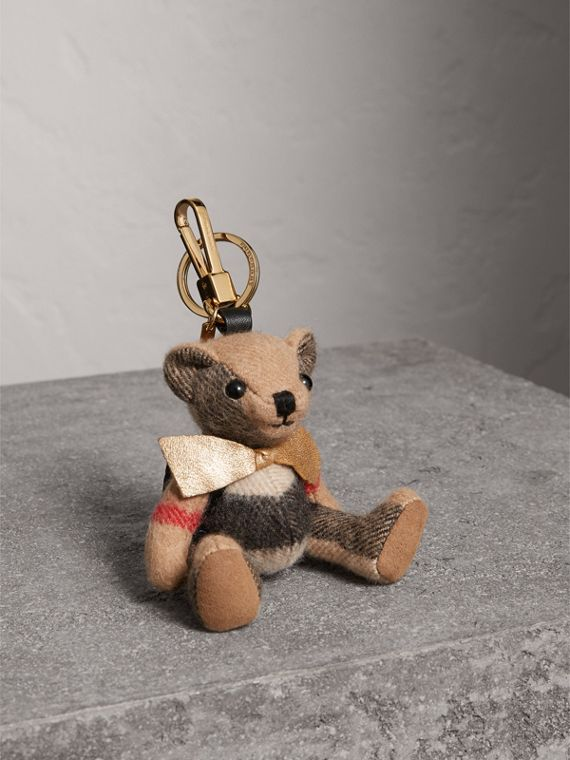 Thomas Bear Charm with Rucksack in Camel