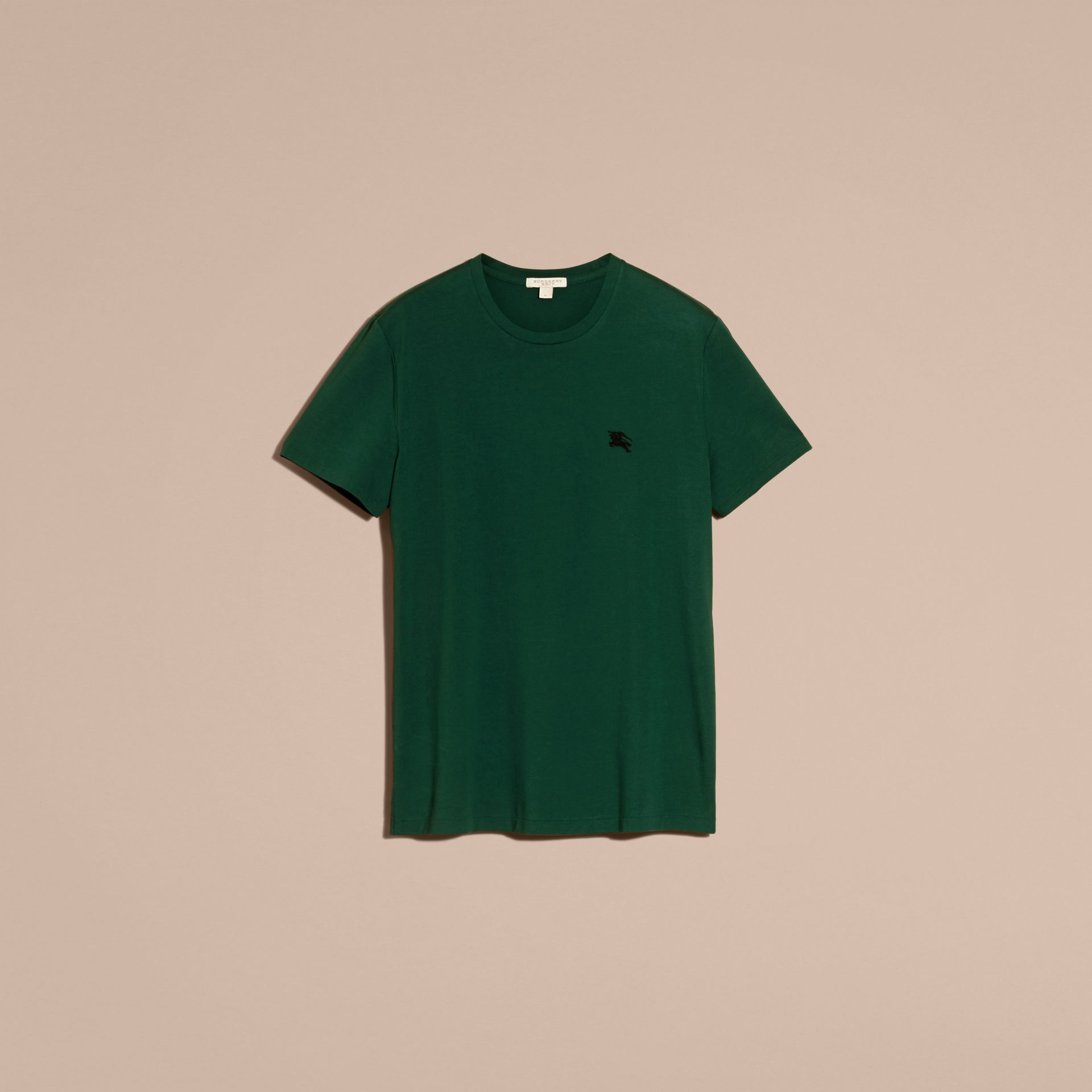 Racing green Liquid-soft Cotton T-Shirt Racing Green - gallery image 4