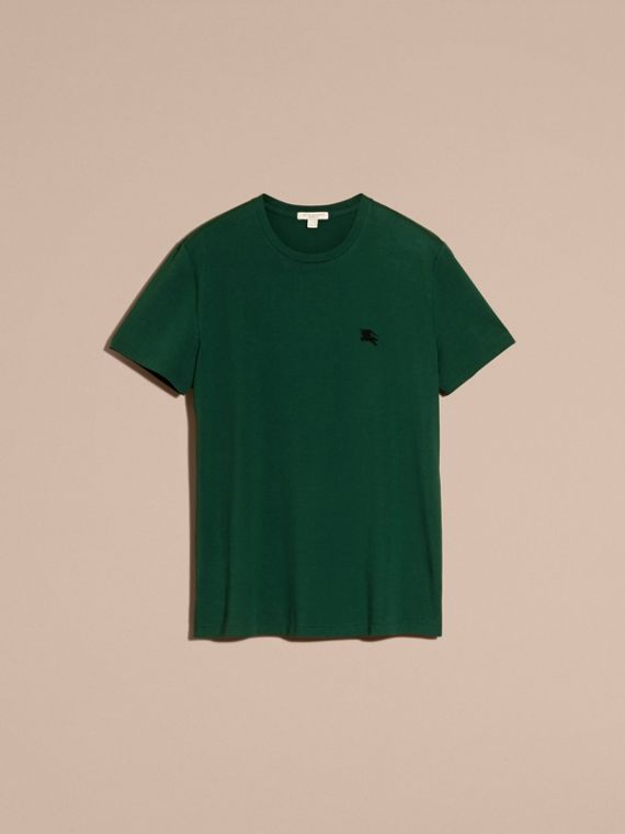 Racing green Liquid-soft Cotton T-Shirt Racing Green - cell image 3