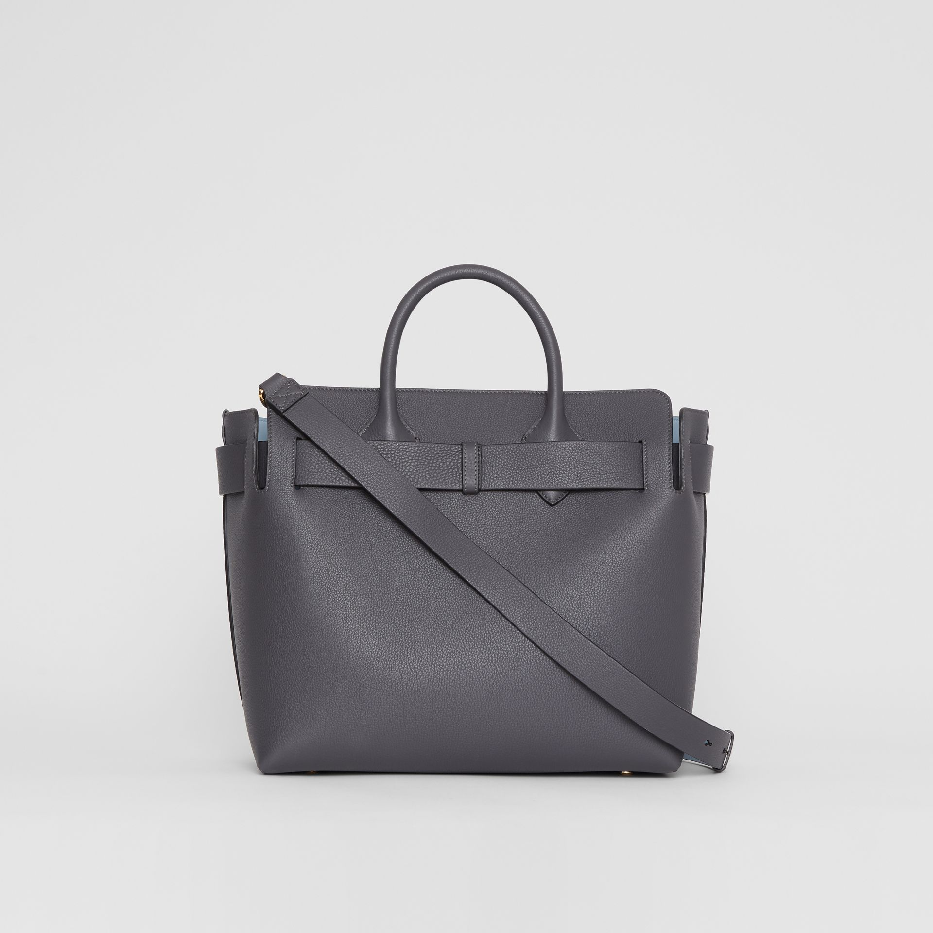The Medium Leather Triple Stud Belt Bag in Charcoal Grey - Women | Burberry - gallery image 7
