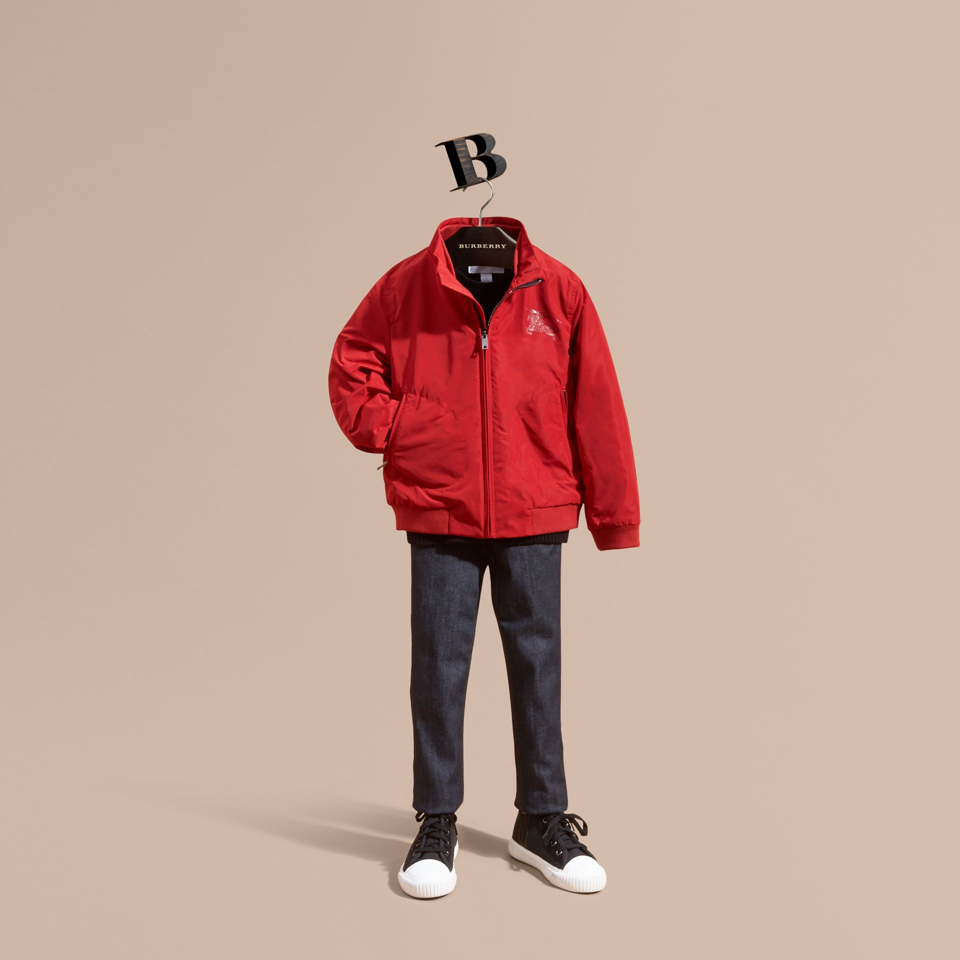 Packaway Blouson in Military Red - Boy | Burberry - gallery image 1