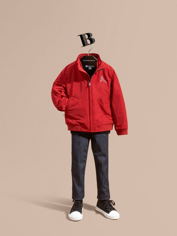 Packaway Blouson in Military Red