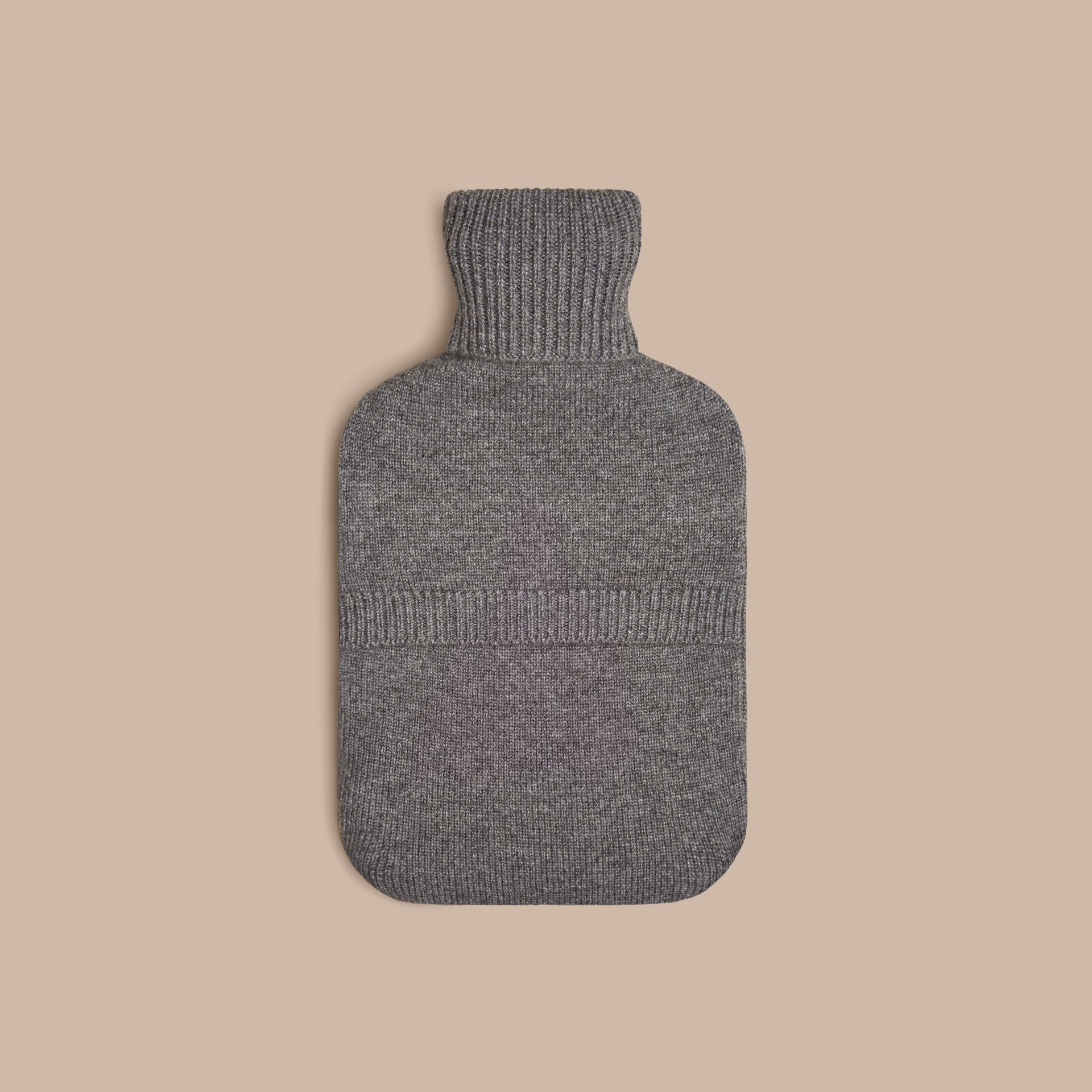Mid grey melange The Beauty Cashmere Hot Water Bottle Cover - gallery image 3