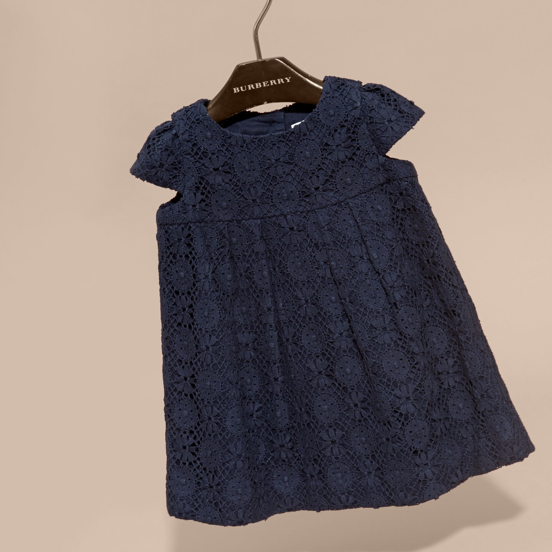 Navy English Lace A-line Dress Navy - gallery image 3
