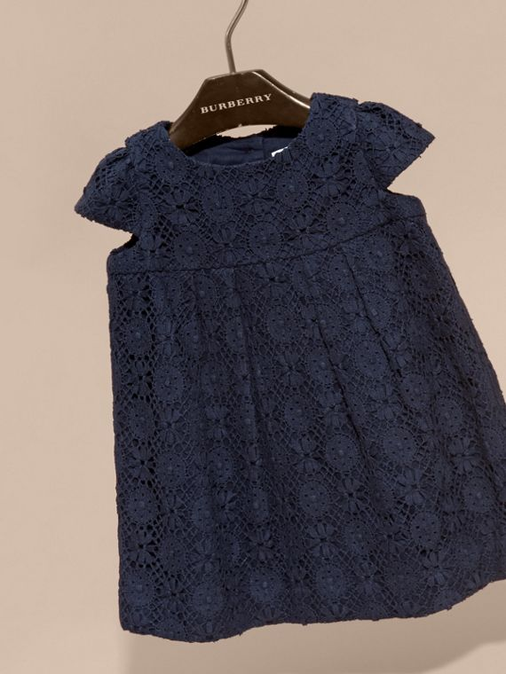 Navy English Lace A-line Dress Navy - cell image 2