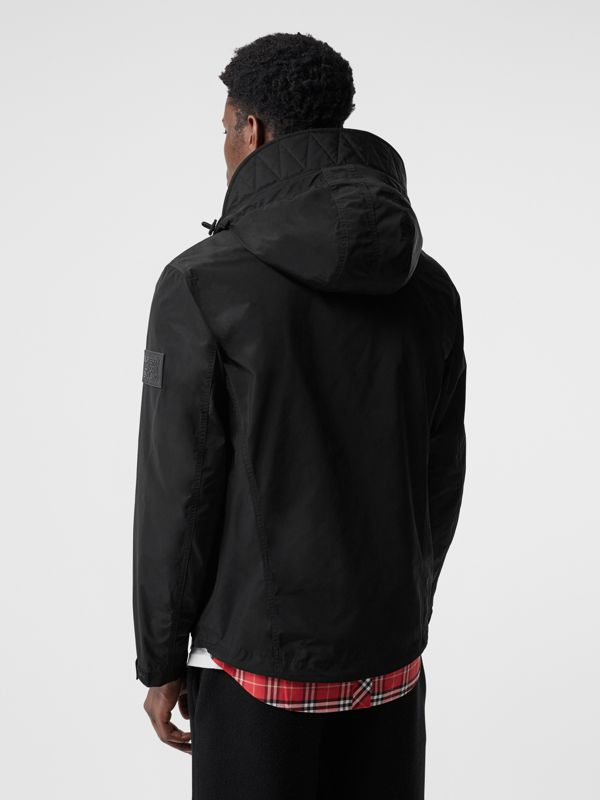 Packaway Hood Shape-memory Taffeta Jacket in Black - Men | Burberry United States - cell image 2