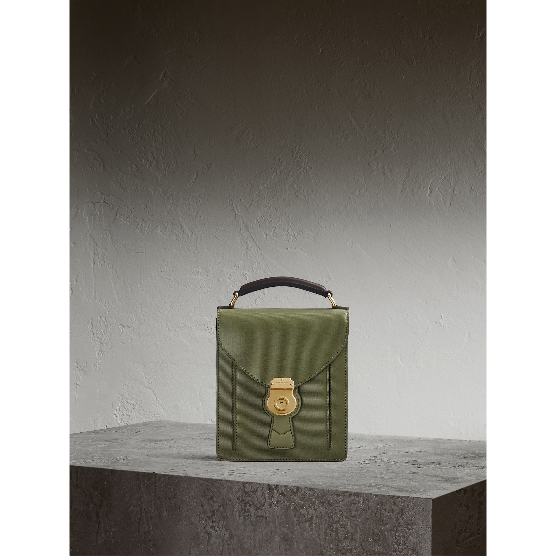 The Small DK88 Satchel in Moss Green - Men | Burberry United Kingdom - gallery image 1