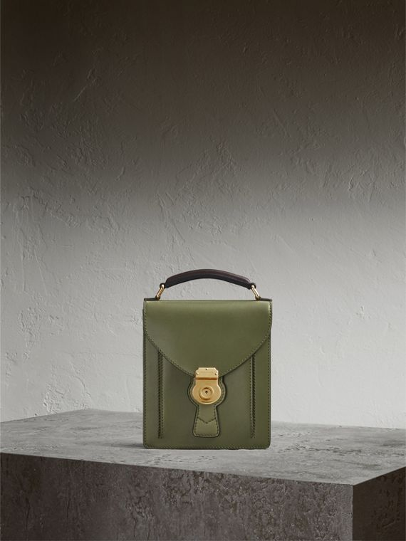 The Small DK88 Satchel in Moss Green - Men | Burberry