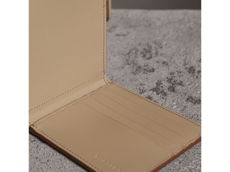 Leather International Bifold ID Coin Wallet in Tan | Burberry - cell image 4