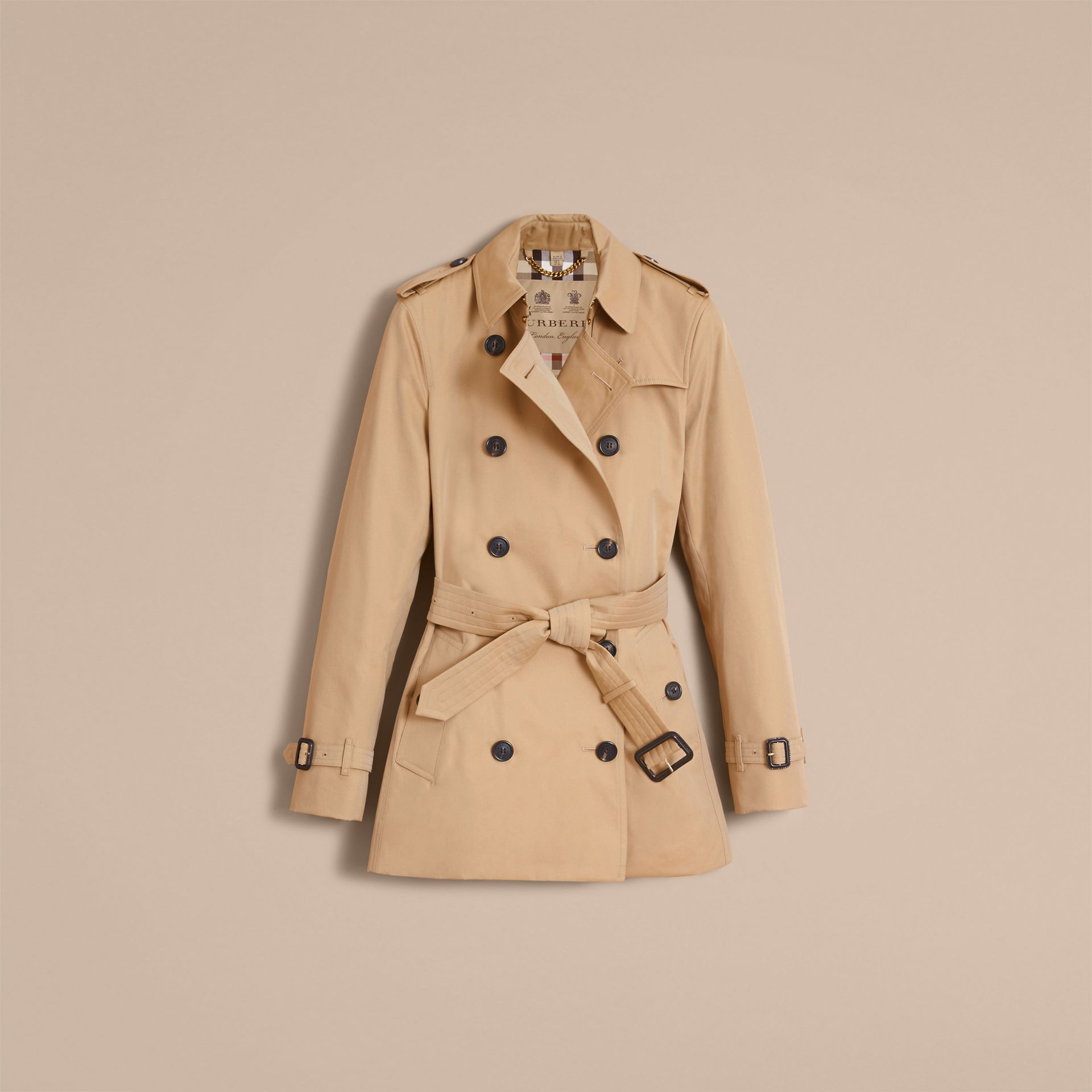 Honey The Kensington – Short Heritage Trench Coat Honey - gallery image 5