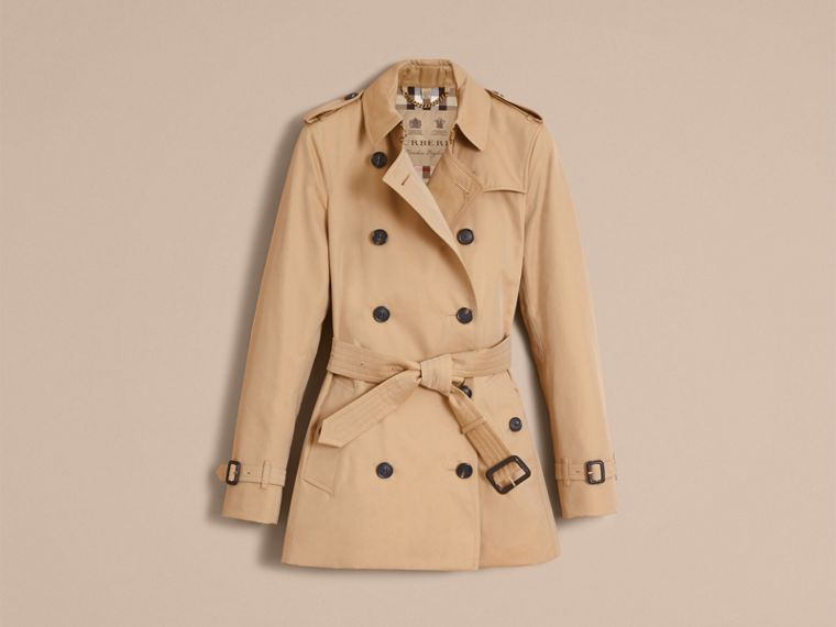 Honey The Kensington – Short Heritage Trench Coat Honey - cell image 4