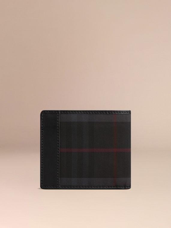 Horseferry Check International Bifold Wallet in Charcoal/black - Men | Burberry Australia - cell image 2