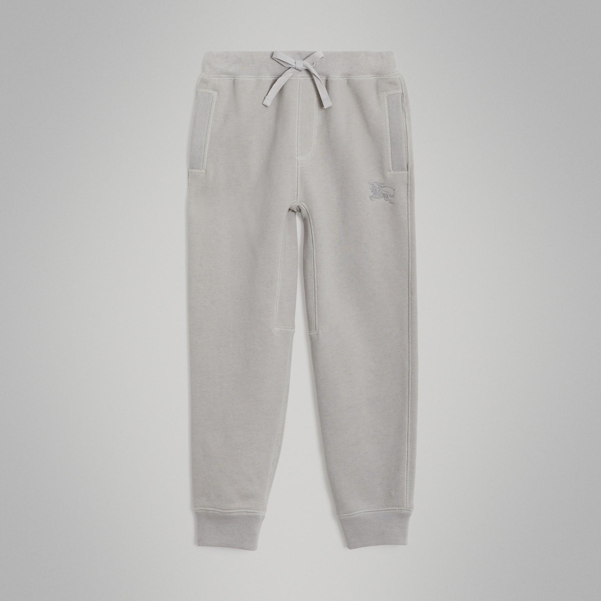 Pantalones deportivos en tejido jersey de algodón (Mezcla  Gris Tiza) | Burberry - imagen de la galería 0