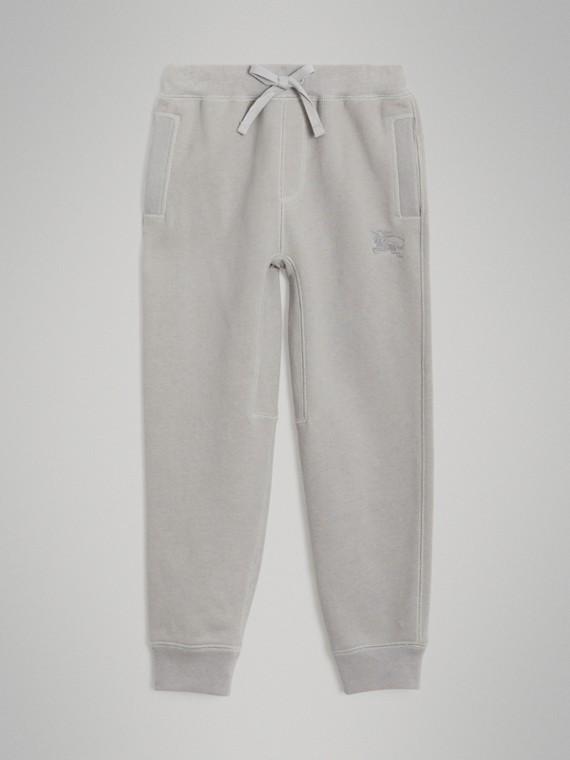 Track pants de malha de algodão (Cinza Giz Mesclado)