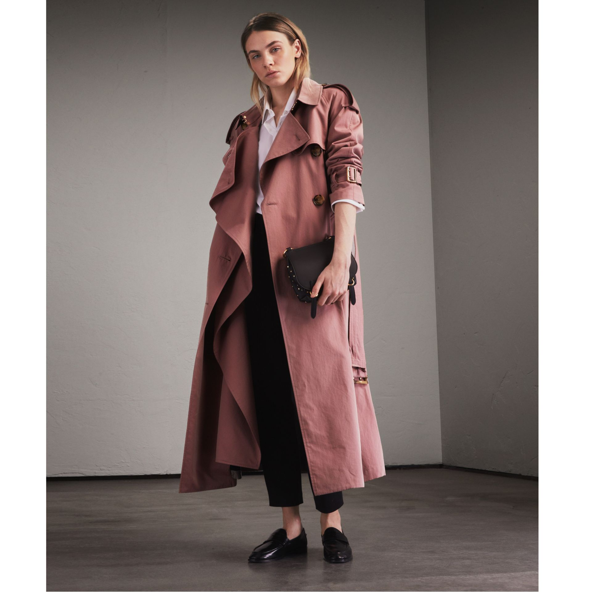 Tropical Gabardine Trench Coat in Antique Rose - Women | Burberry Singapore - gallery image 1