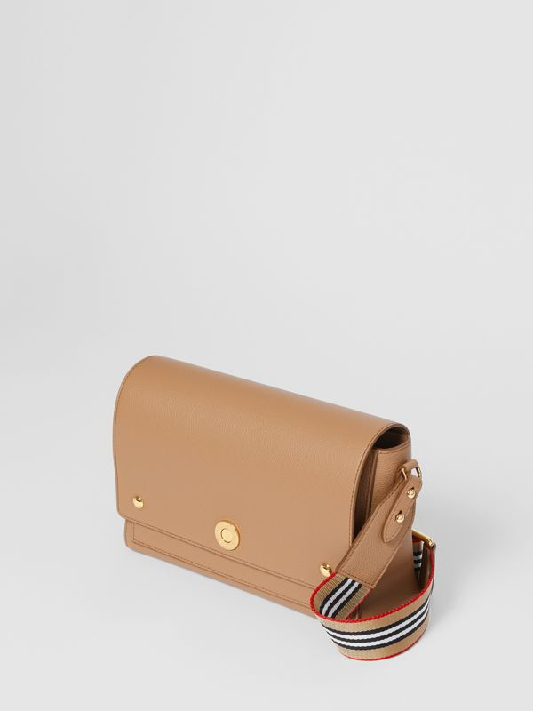 Grainy Leather Note Crossbody Bag in Camel - Women | Burberry Australia - cell image 3