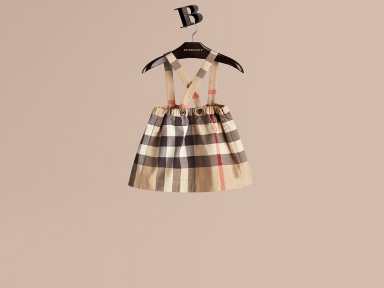 New classic check Check Cotton Skirt with Detachable Straps - cell image 2