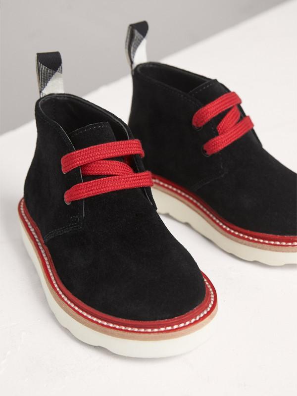 Desert boots de camurça com duas cores (Preto) | Burberry - cell image 3