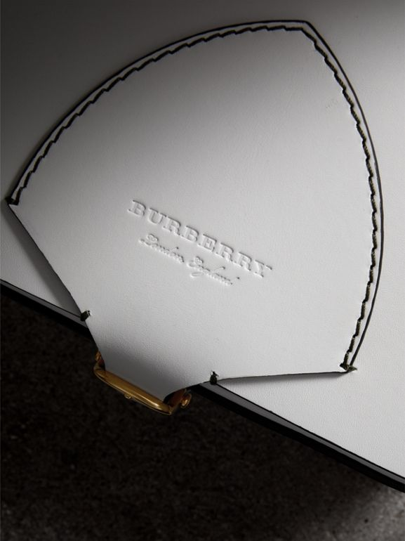 The Large Square Satchel in Leather in Chalk White - Women | Burberry - cell image 1