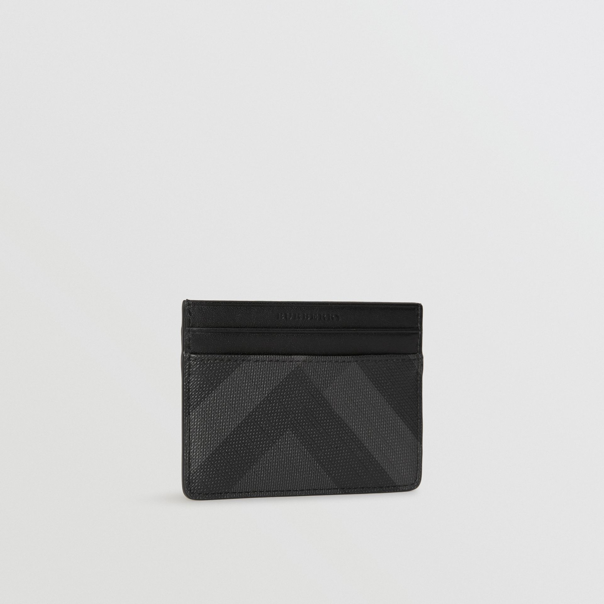 London Check Card Case in Charcoal/black - Men | Burberry United Kingdom - gallery image 4