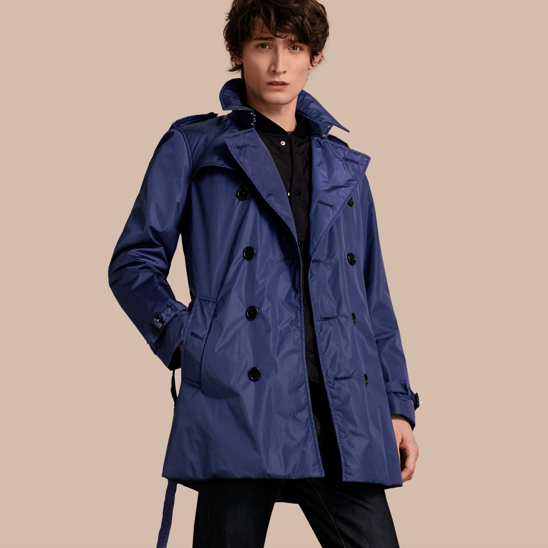 Showerproof Technical Trench Coat with Detachable Warmer - gallery image 1